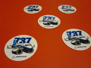 737 Logo Stickers
