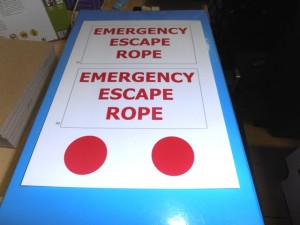 Emergency Escape Rope decals