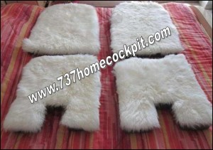 Sheep Skin Covered Cushion