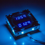 737 Digital Clock Aplha 2.0 Blue