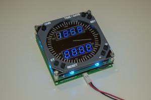 737 Digital Clock Aplha 2.0 Blue powered